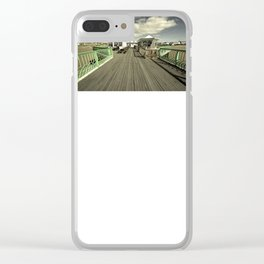 The pier at St Annes on sea Clear iPhone Case