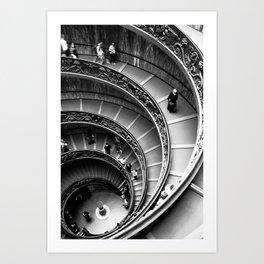 Vatican Stairway Art Print