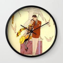 George Barbier - Automne (art deco print) Wall Clock