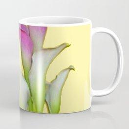 PURPLE & WHITE CALLA LILIES FLORAL YELLOW ART Coffee Mug