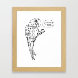 It is the Time of death Framed Art Print