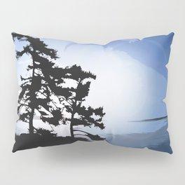 TWO WINDSWEPT DOUGLAS FIR ON THE SHORELINE Pillow Sham