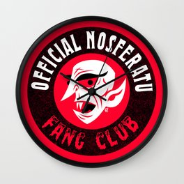 Nosferatu Fang Club Wall Clock