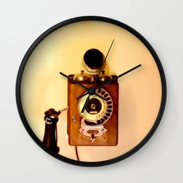 ANTIQUE WALL TELEPHONE Wall Clock