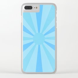 blue sunshine Clear iPhone Case
