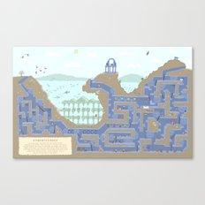 Undertunnels Maze Canvas Print