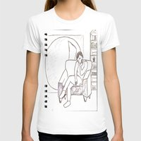 library T-shirts featuring School Library by Louisa Venerandum