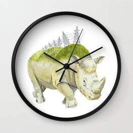 rhinoceros  Wall Clock