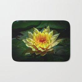 Yellow water lily Bath Mat