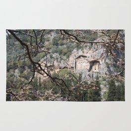 Wisteria Buds Surrounding the Lycian Tombs Dalyan Rug