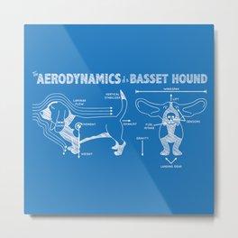 The Aerodynamics of a Basset Hound Metal Print