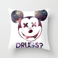 mouse Throw Pillows featuring mouse by jeff'walker