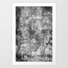 Abstract Concrete Grunge Art Print