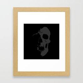 Skull - Grey Framed Art Print