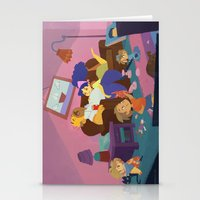 simpsons Stationery Cards featuring The Simpsons by Ann Marcellino