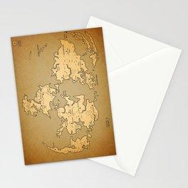 Gaia Midgar Final Fantasy VII Map Stationery Cards