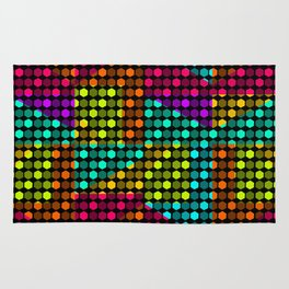 Disco hexagons Rug