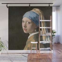 Johannes Vermeer - Girl with the pearl earring (1665) Wall Mural