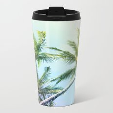 Relaxing Rainbow Color Palms Metal Travel Mug