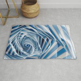 Blue Rose Spiral Rug