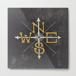 N.S.E.W.  Metal Print