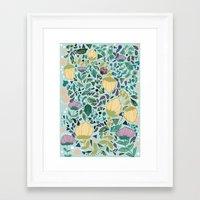 flower pattern Framed Art Prints featuring Flower Pattern by Jo Cheung Illustration