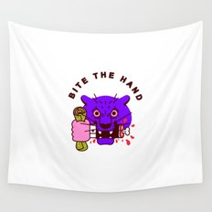 Bite the Hand Wall Tapestry