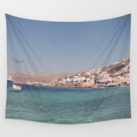 greek Wall Tapestries featuring Greek Island Paradise by ZBOY