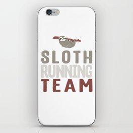 Cute Sloth Running Team For Sloth Runner iPhone Skin