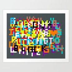 color coded confusion Art Print