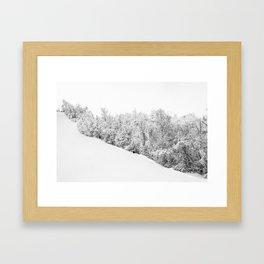 Slope Framed Art Print