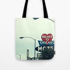 Heart 'O' Chicago Motel (Day) ~ vintage neon sign Tote Bag