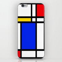 mondrian iPhone & iPod Skins featuring Mondrian by The Wellington Boot