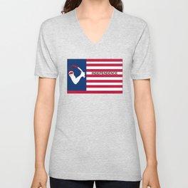 Browns Flag of Independence Unisex V-Neck