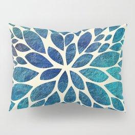 Petal Burst - Turquoise Pillow Sham