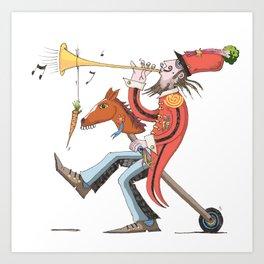 Brigadier Rhubarb Art Print