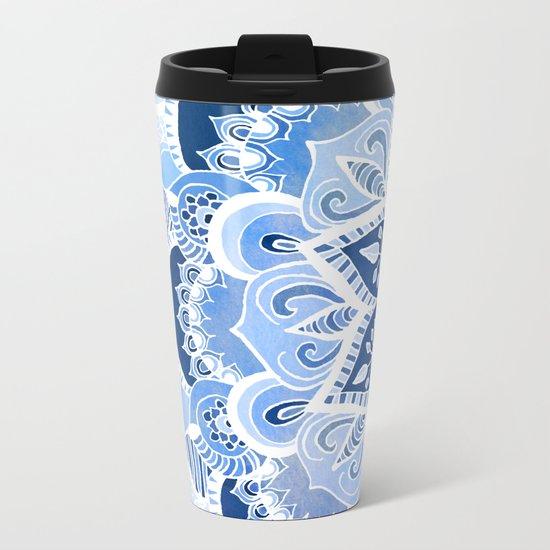 Lacy Blues Metal Travel Mug