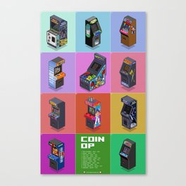 Coin-Op - Variant Canvas Print
