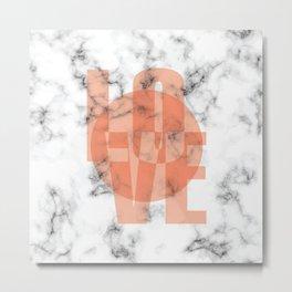 Marble Love 049 Metal Print