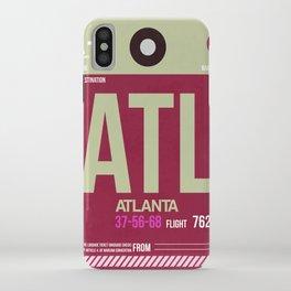 ATL Atlanta Luggage Tag 2 iPhone Case