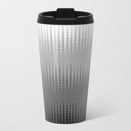 Waves in Black and White Metal Travel Mug