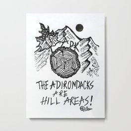 """Hilarious"" Adirondacks Decor, Rustic Mountain Art, ADK, Mountain Drawing  Original Artwork Metal Print"