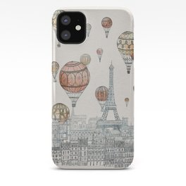 Voyages Over Paris iPhone Case