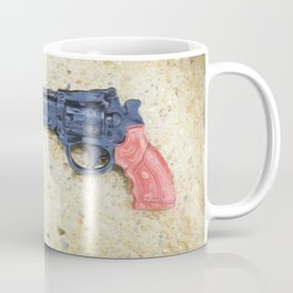 Plastic Gun in Rain Coffee Mug