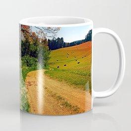 Hiking trail through springtime nature Coffee Mug