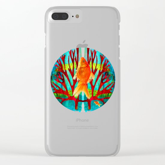 Golden Fish Clear iPhone Case