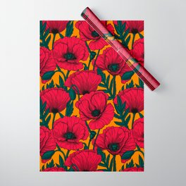 Red poppy garden Wrapping Paper