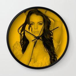 Lindsay Lohan - Extra Zoom Wall Clock