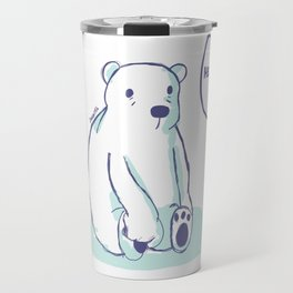 Sad Polar Bear Travel Mug
