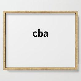 cba Serving Tray